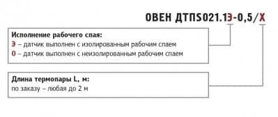 Обозначения при заказе ДТПS021
