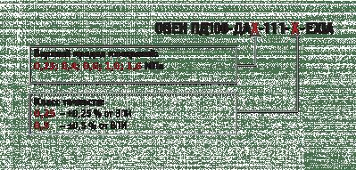 Преобразователи во взрывозащищенном исполнении ПД100. Обозначение при заказе