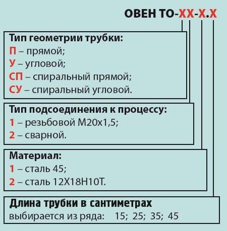Трубки отводные ОВЕН ТО