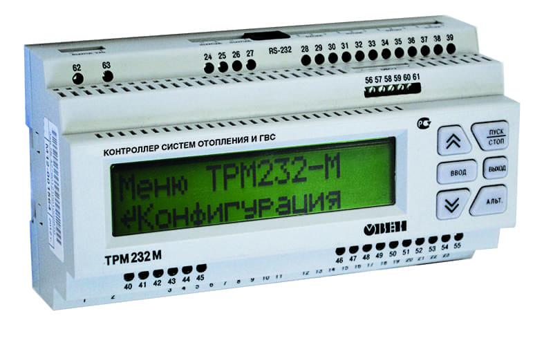 Контроллер для одно- и двухконтурных систем отопления и ГВС ОВЕН ТРМ232М